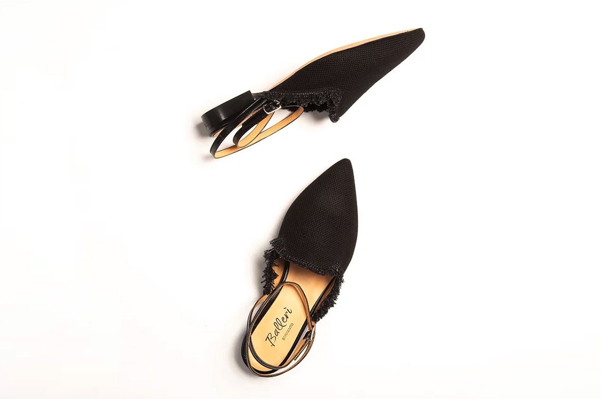 Slipper Canapa Nero