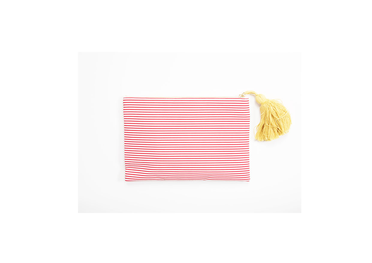 Amalfi Clutch Righe Rosse