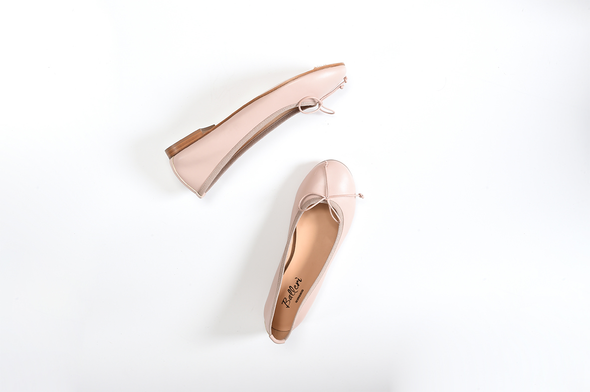 Ballerina a punta tonda Carla Pelle Talco