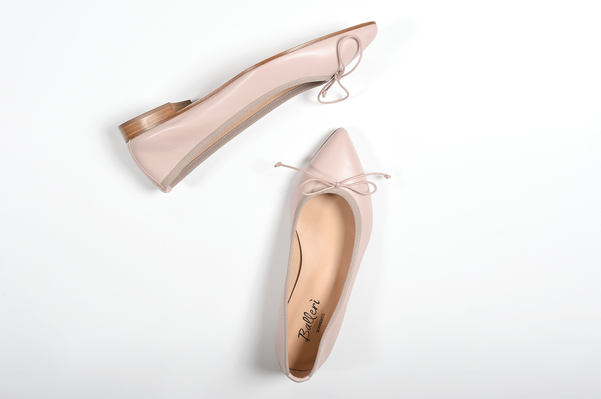 Nude Leather Eleonora Ballerina