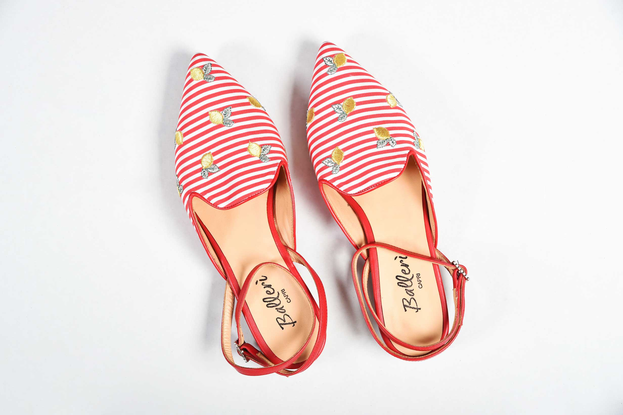 Exclusive Capri Collection - Slipper Audry Righe Rosse