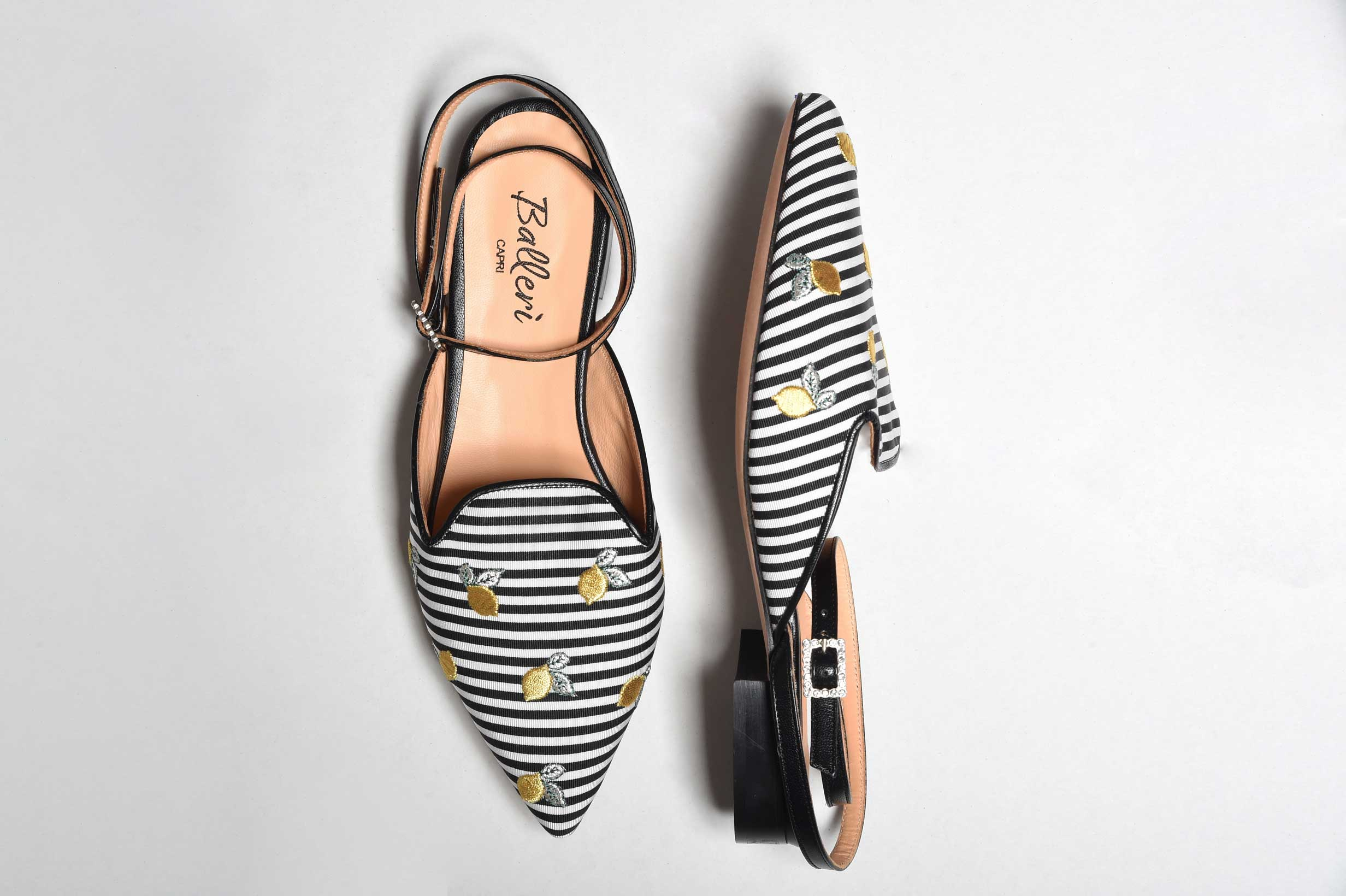 Exclusive Capri Collection - Slipper Audry Righe Nere