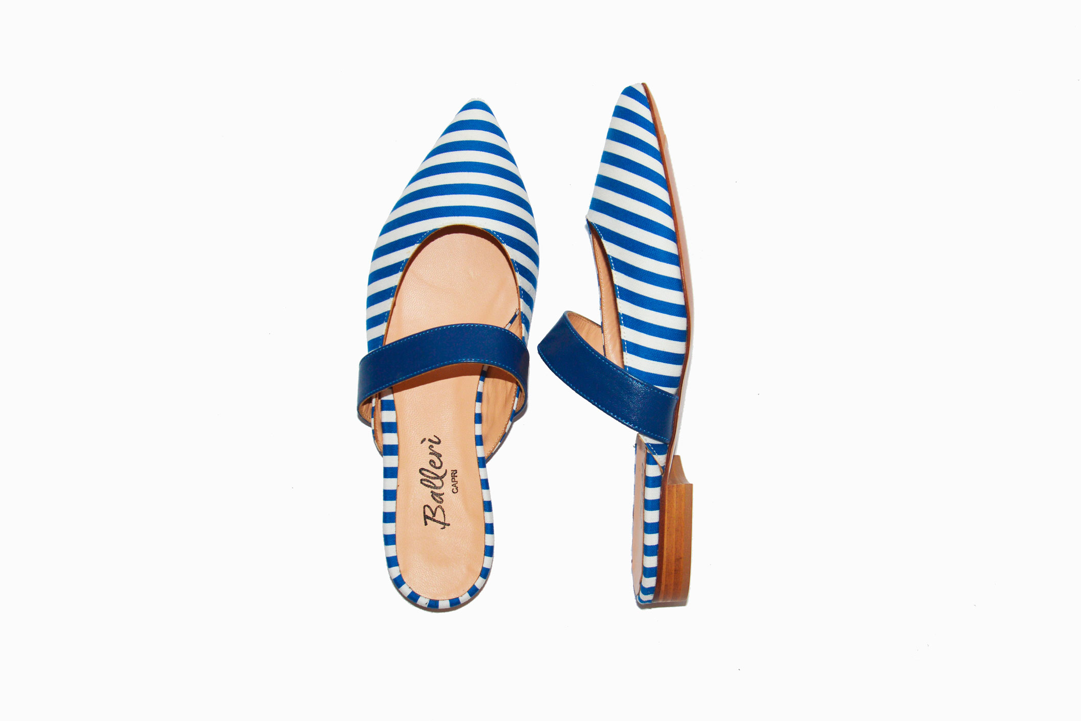 Exclusive Capri Collection – Slipper Faro Righe Bluette