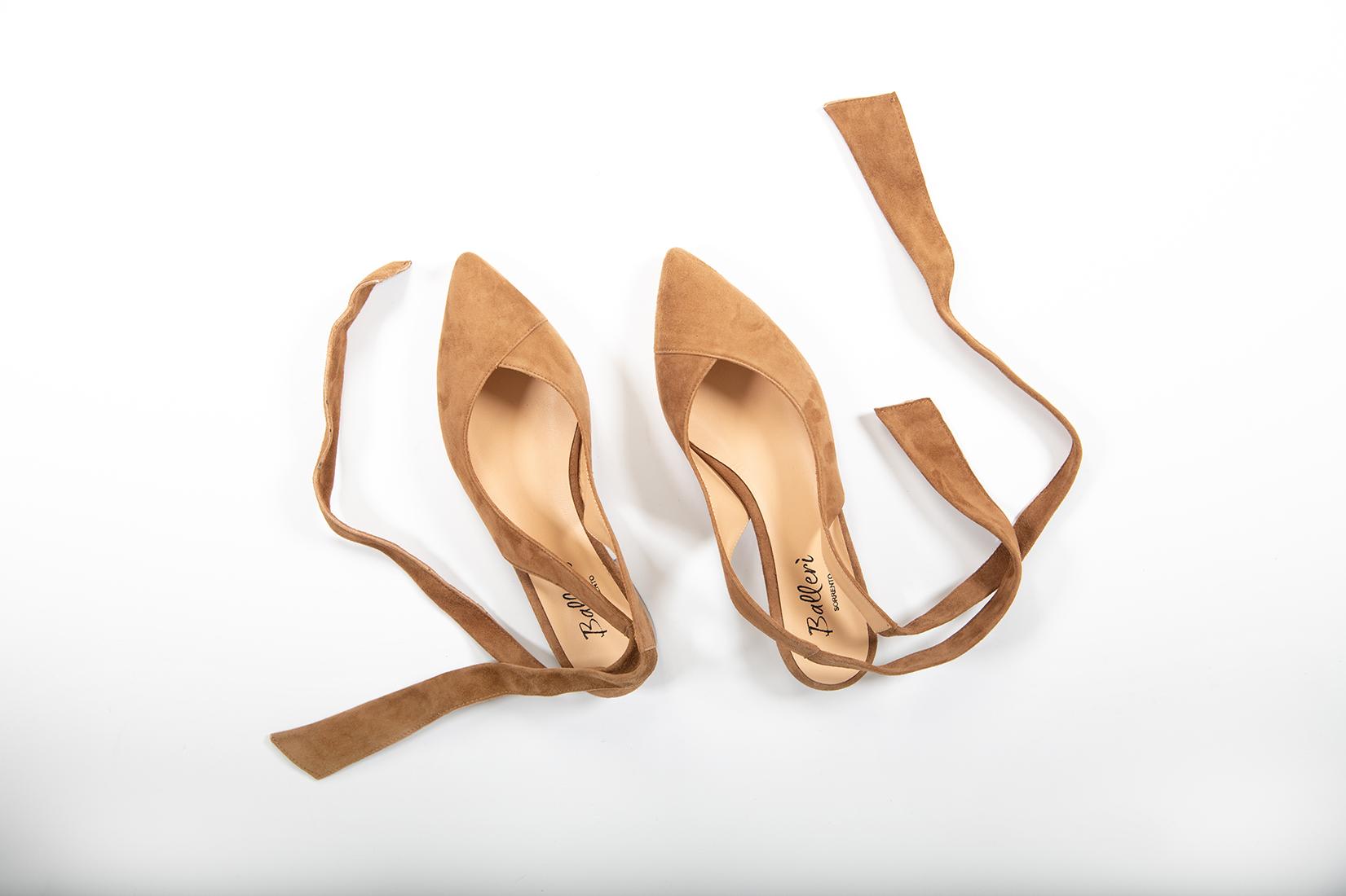 Ballerina foulard Nina Camoscio Sella